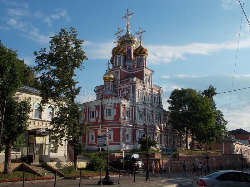 Kirche des 18. Jahrhunderts in Nischni Nowgorod lizenzfreie stockbilder