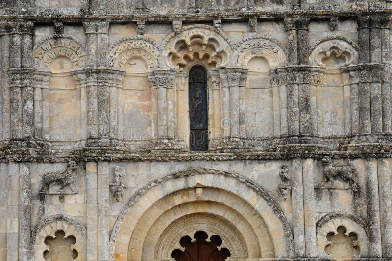 Kirche des Petit Palais und des Cornemps in Gironde stockfotografie