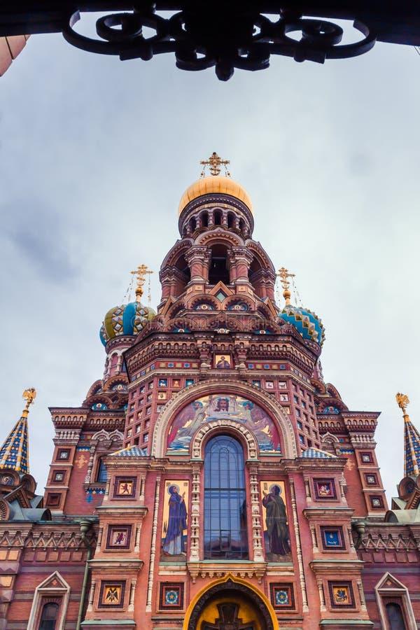 Kirche des Retters auf versch?ttetem Blut, St Petersburg, Russland stockfotografie