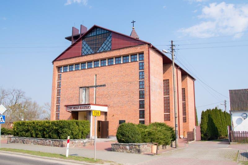 Kirche des tadellosen Herzens von Mary in Gniewoszow lizenzfreie stockbilder