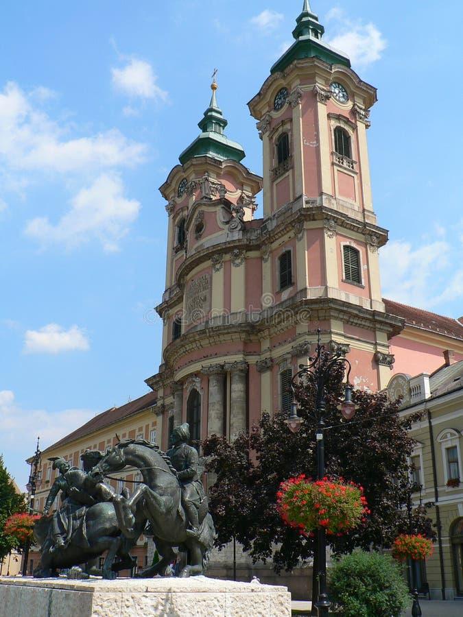 Kirche in Eger lizenzfreies stockfoto