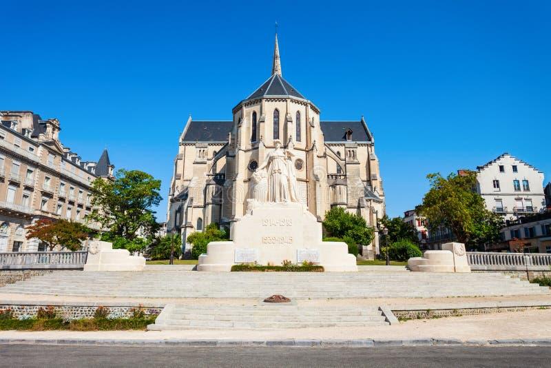 Kirche Eglise Saint Martin, Pau lizenzfreie stockfotos