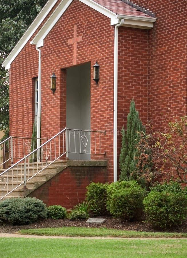 Download Kirche-Eingang stockbild. Bild von geländer, ziegelstein - 26203