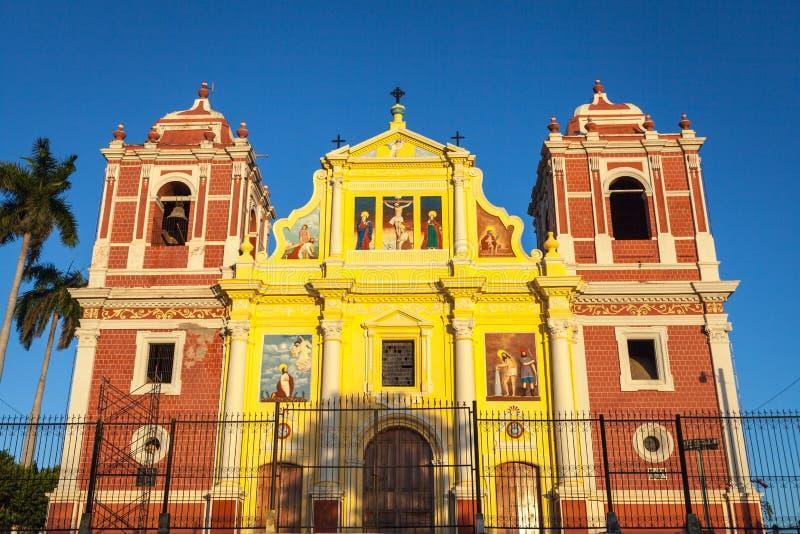 Kirche EL Calvario, Leon, Nicaragua lizenzfreies stockbild