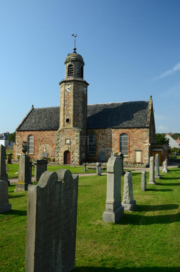 Kirche in Elie stockfoto