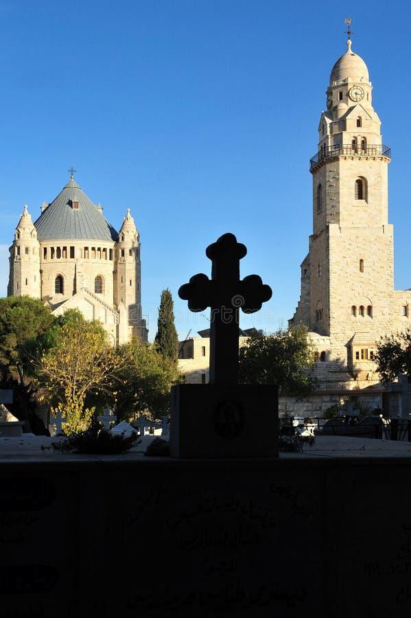 Kirche Hagia Maria Sion Abbey im Mount Zion Jerusalem, Israel stockbilder