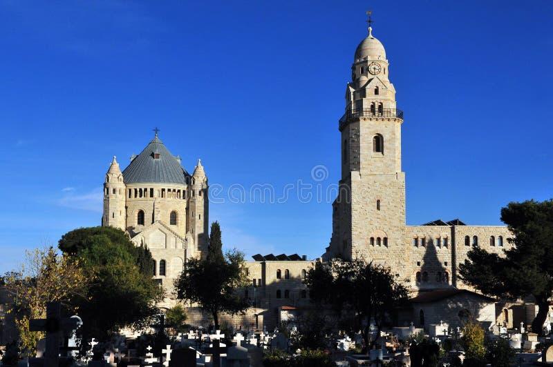 Kirche Hagia Maria Sion Abbey im Mount Zion Jerusalem, Israel lizenzfreie stockbilder
