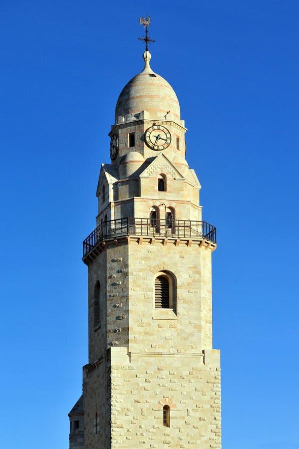 Kirche Hagia Maria Sion Abbey im Mount Zion Jerusalem, Israel lizenzfreies stockfoto