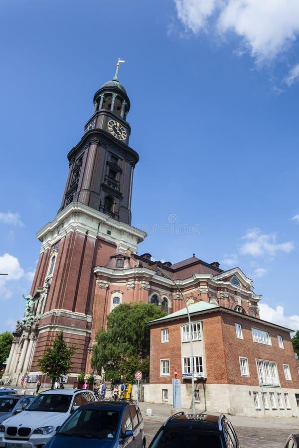 Kirche Hamburg-St. Michaelis, redaktionell stockfoto
