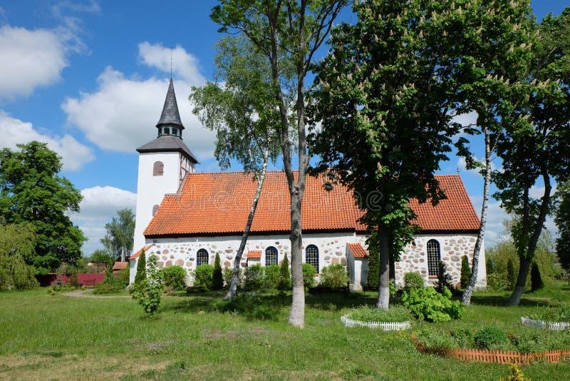 Kirche Heiligenwalde in Uschakowo royalty-vrije stock afbeelding