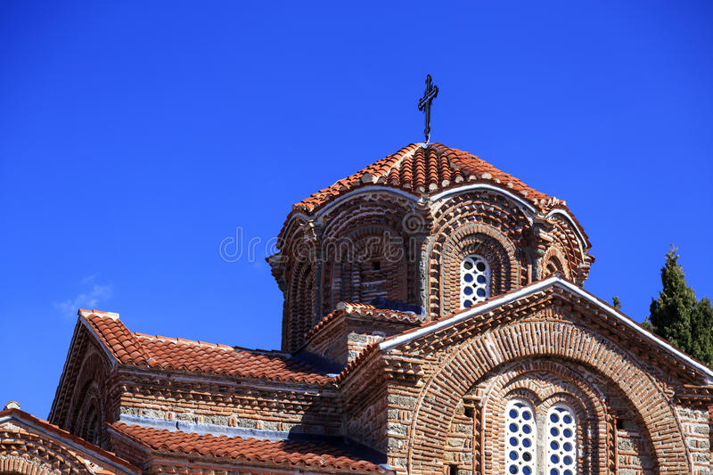 Kirche heiliges Mary Perybleptos und St. Demetrius OS Salonica in oh stockfoto