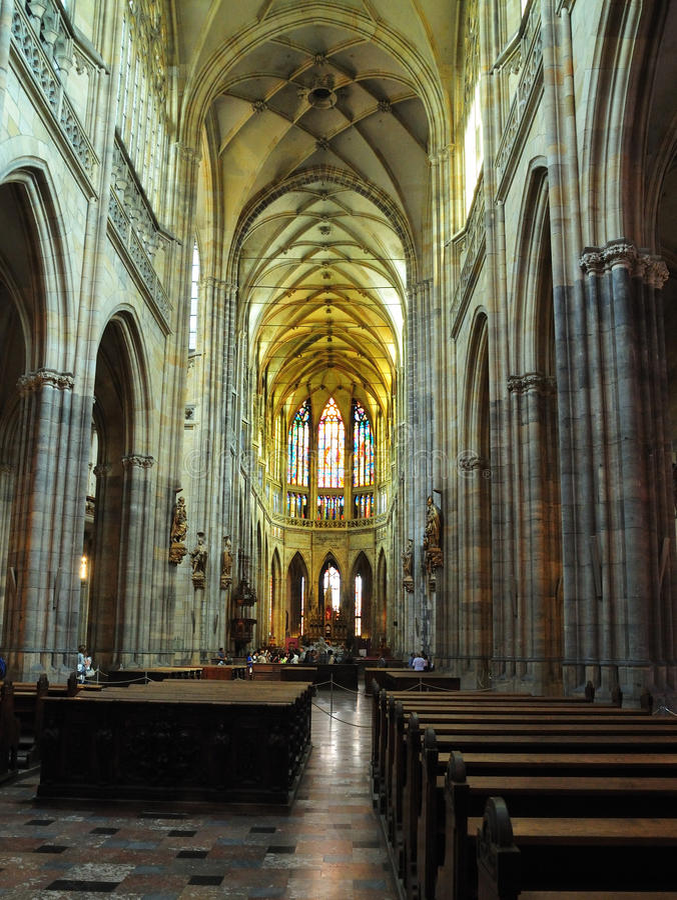 Kirche-Heiliges Vitus Kathedrale in Prag lizenzfreie stockfotos