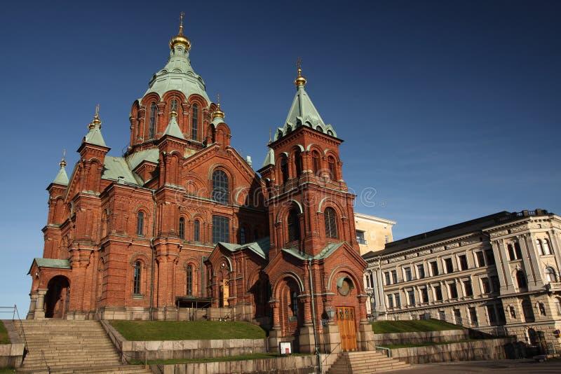 Kirche in Helsinki stockbild