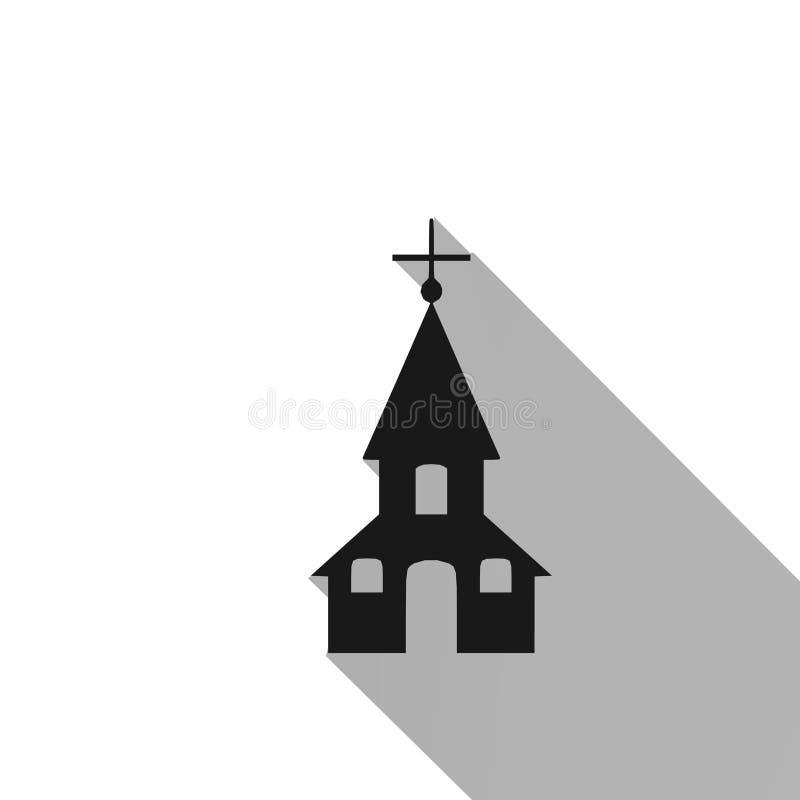 Kirche, Ikone, Zeichen, beste Illustration 3D stock abbildung
