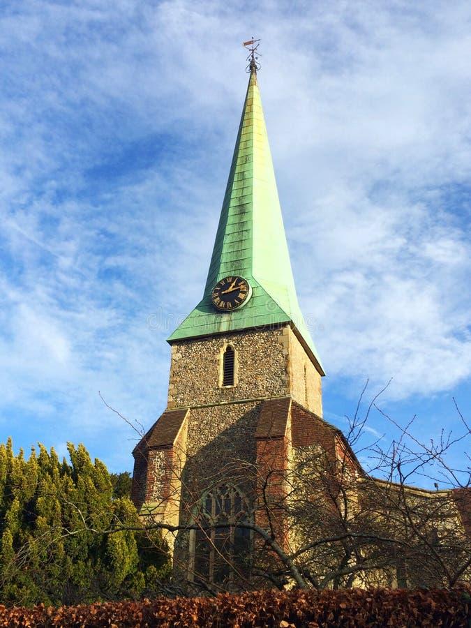 Kirche im barham nahe Canterbury in Kent lizenzfreie stockfotografie