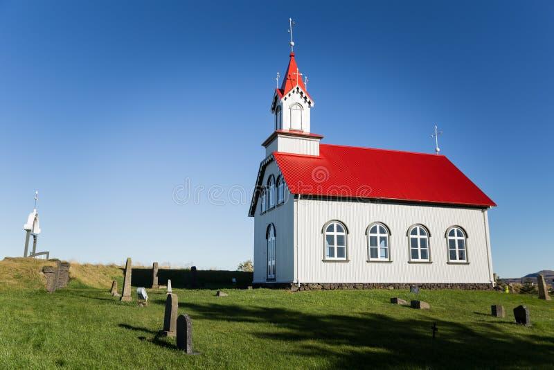 Kirche in Island stockfoto