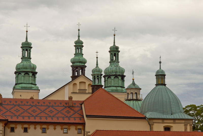 Kirche in Kalwaria Zebrzydowska - Polen UNESCO Platz. stockfotos