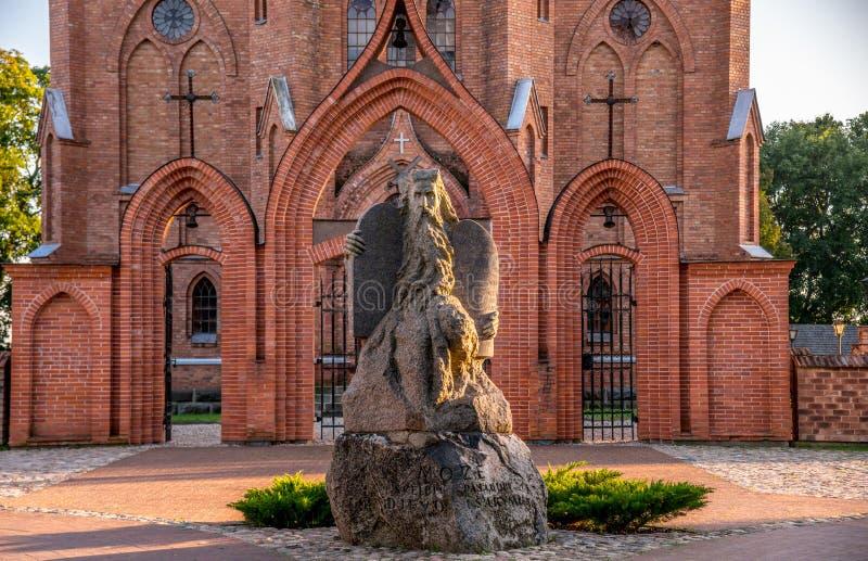 Kirche in Kernave lizenzfreie stockbilder