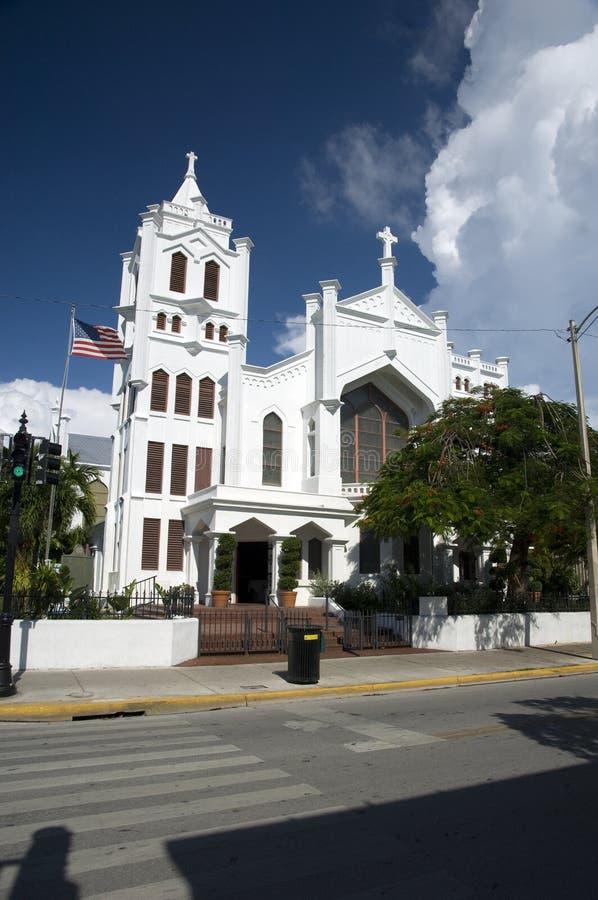 Kirche in Key West lizenzfreie stockbilder