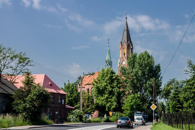 Kirche in Krakau Polen lizenzfreies stockfoto