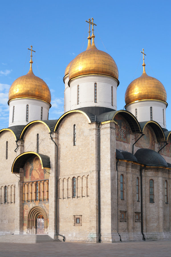 Kirche. Kremlin. Moskau. stockbilder