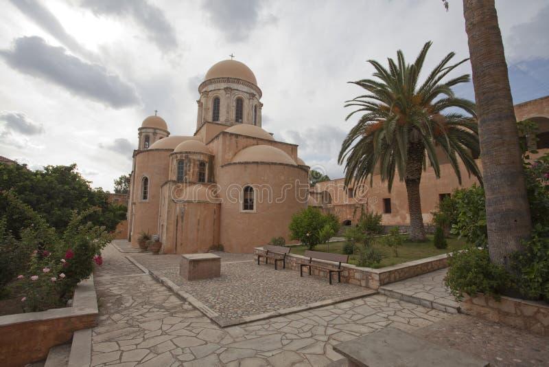 Kirche in Kreta lizenzfreies stockbild