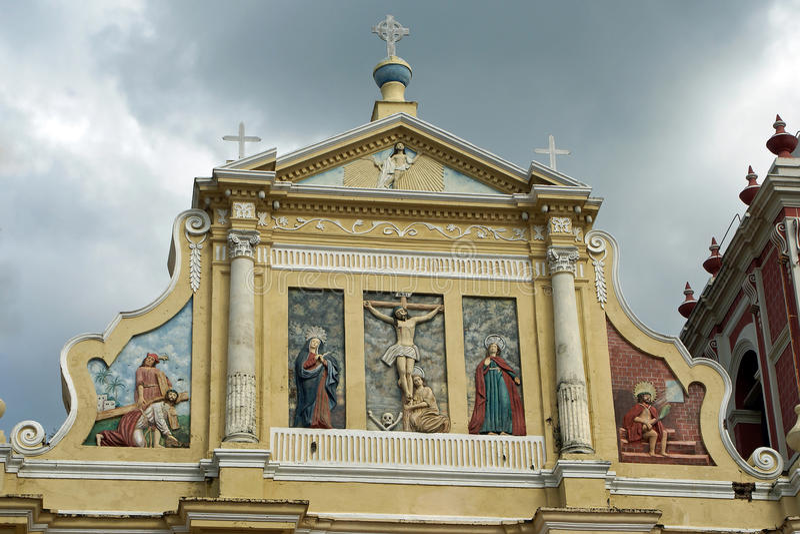 Kirche, Leon, Nicaragua stockbild