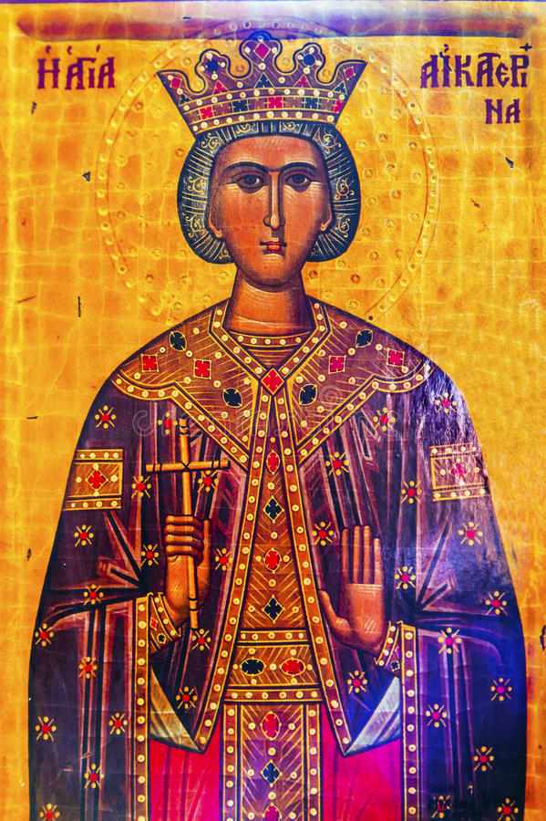 Kirche Madaba Jordanien der Königin-Helena Golden Icon Saint George stockbilder