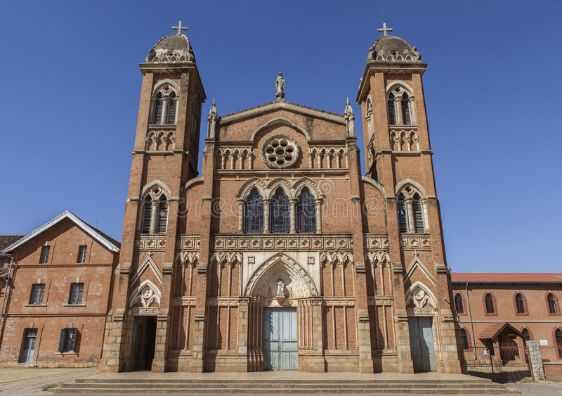 Kirche in Madagaskar lizenzfreies stockfoto