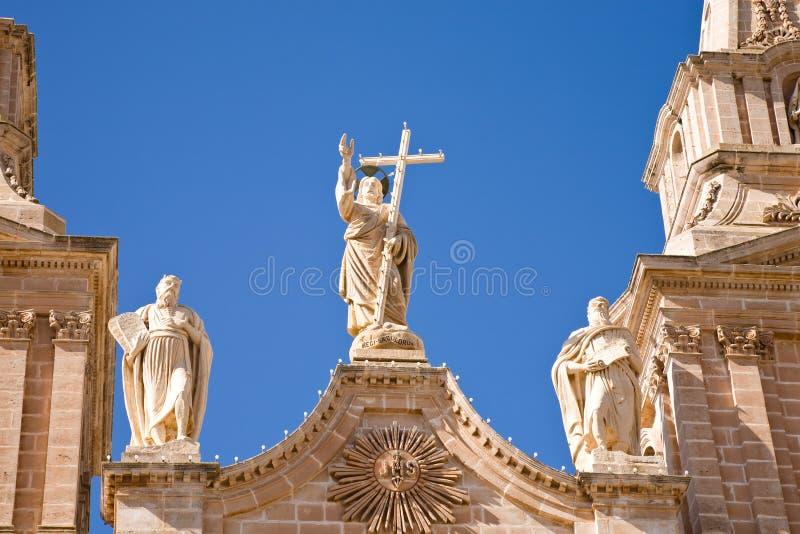 Kirche, Mellieha, Malta lizenzfreie stockbilder