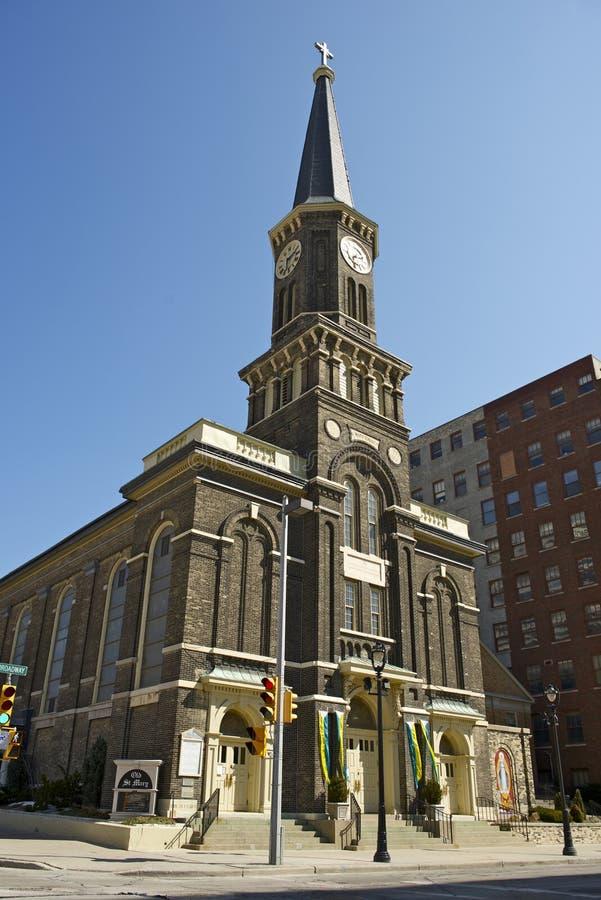 Kirche Milwaukee St. Marys stockbilder