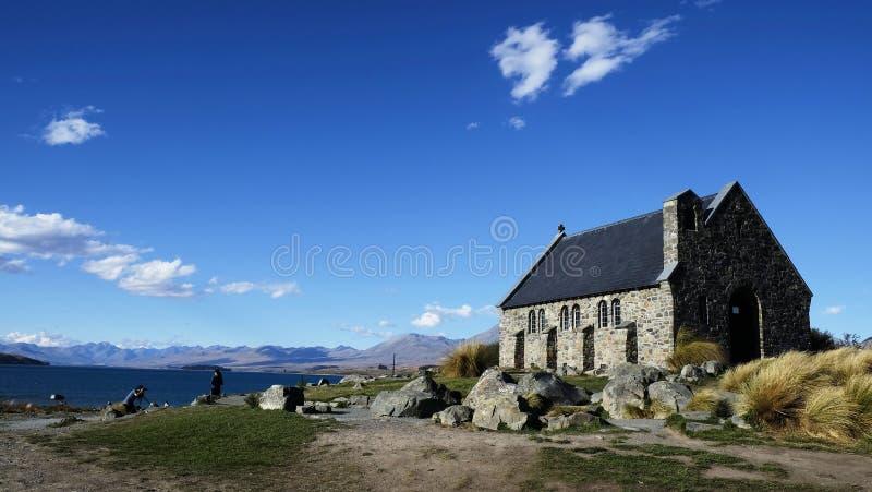 Kirche mit einer Ansicht stockbild