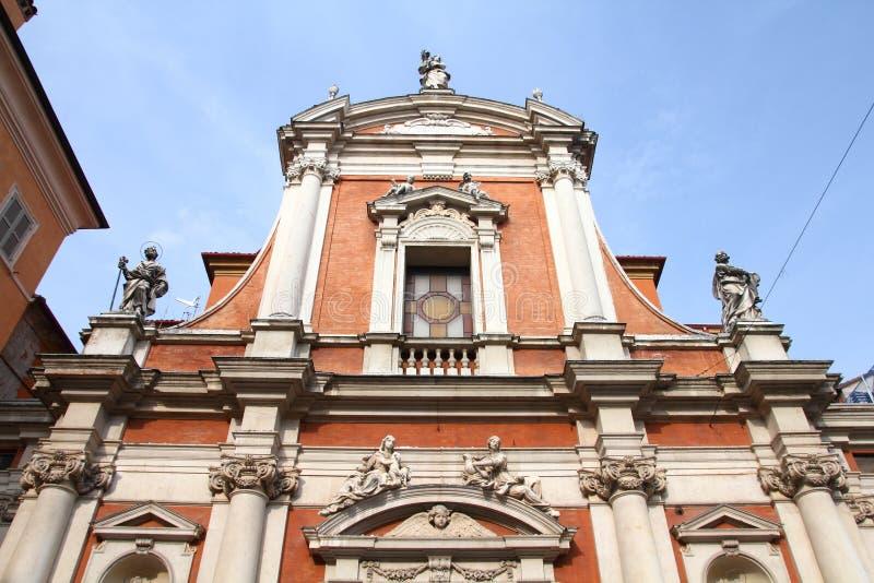 Kirche in Modena, Italien stockfotos