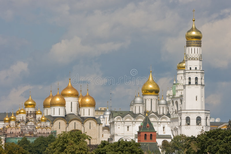 Kirche in Moskau Kremlin. stockbilder