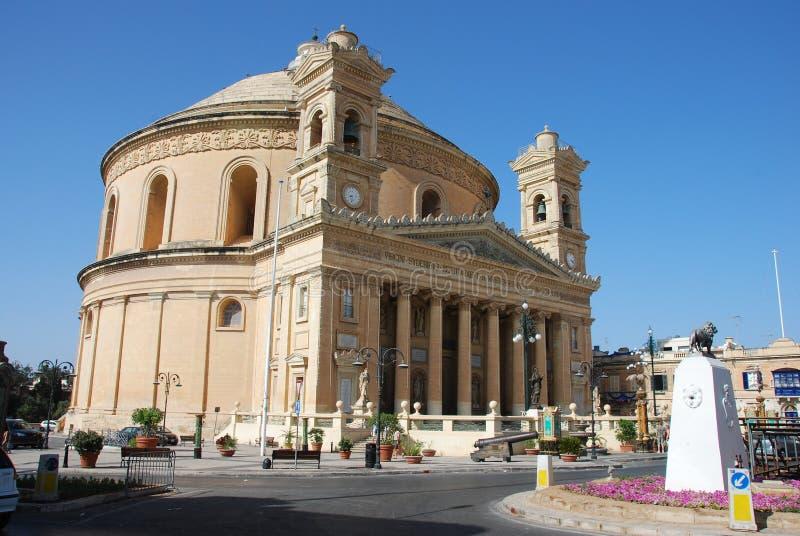 Kirche in Mosta stockbilder