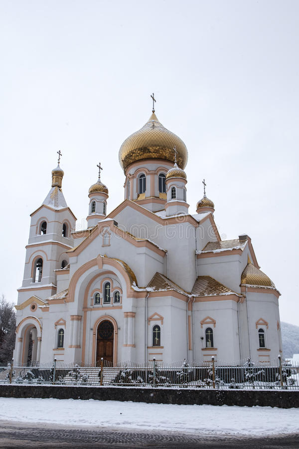 Kirche in Mukacheve, Ukraine stockfotos