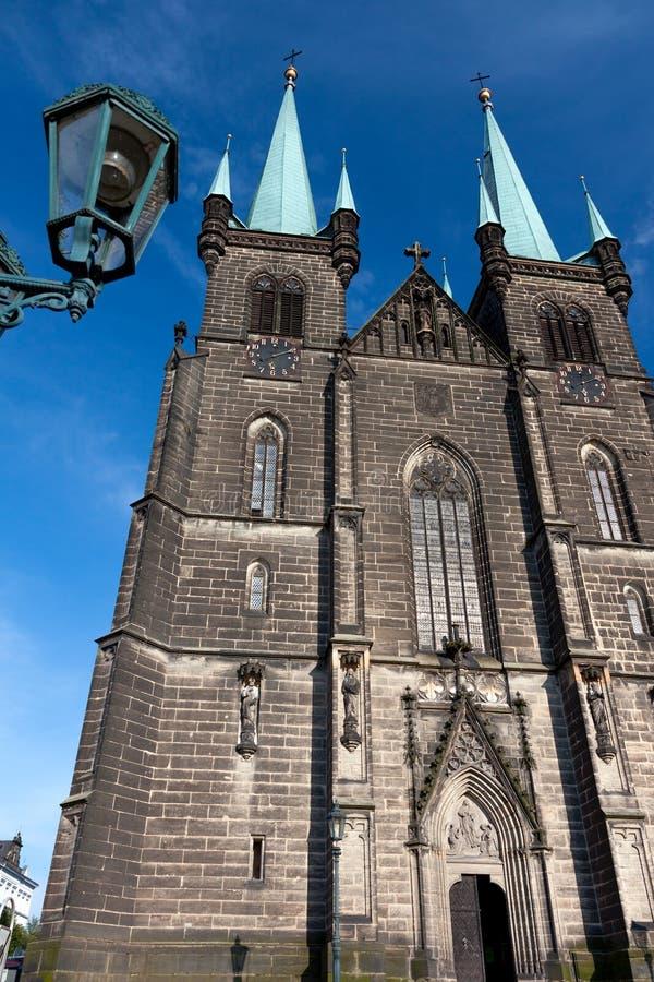 Kirche in Chrudim lizenzfreie stockfotos