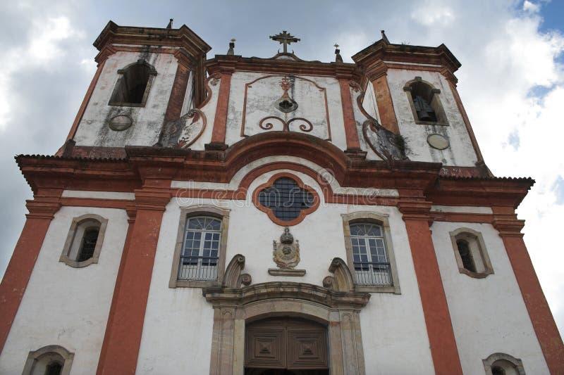 Kirche Nossa Senhora tun Carmo, Ouro Preto lizenzfreie stockbilder