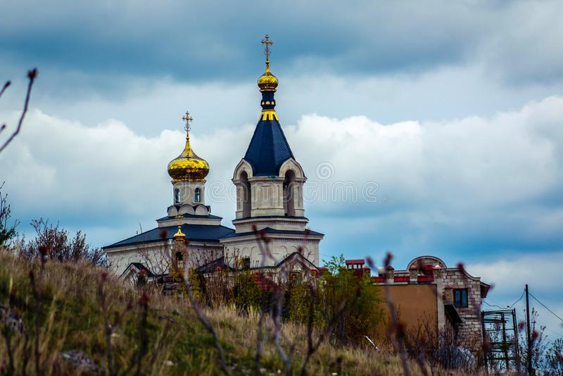 Kirche Orheiul Vechi stockfotos