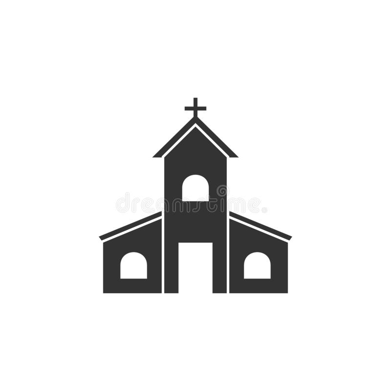 Kirche, Ostern-Ikone kann für Netz, Logo, mobiler App, UI, UX benutzt werden stock abbildung