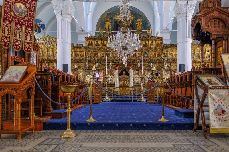 Kirche Panagia Faneromeni von heiliger Mary, Ansicht der Mitte ändern stockbild