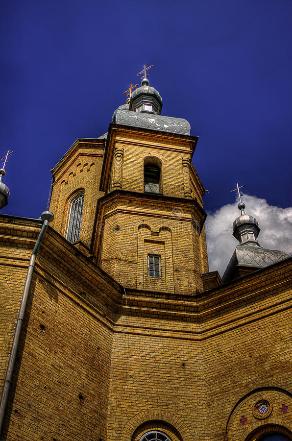 Kirche in Pereyaslav lizenzfreies stockfoto