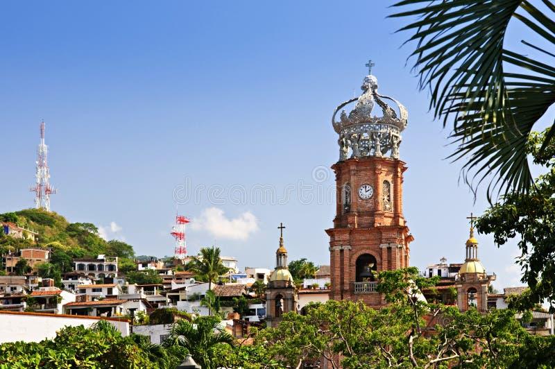 Kirche in Puerto Vallarta, Jalisco, Mexiko lizenzfreie stockbilder