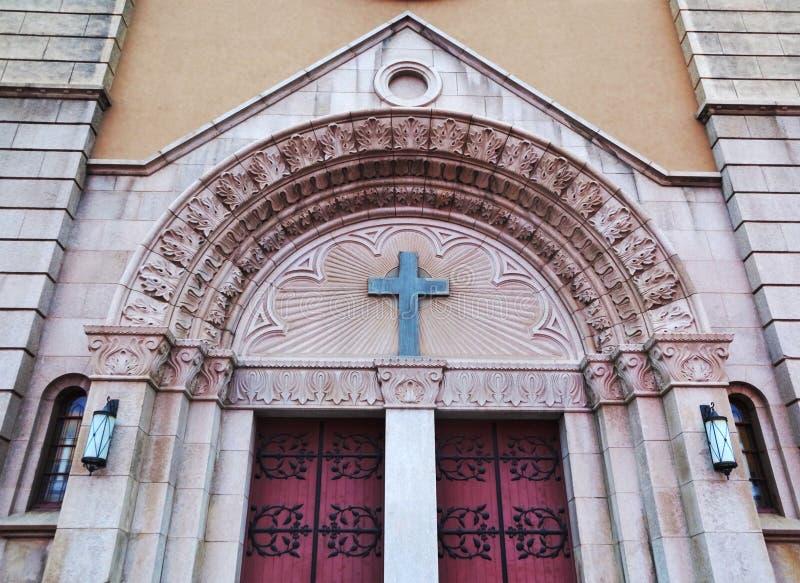 Kirche in Qingdao-Stadt stockfotos