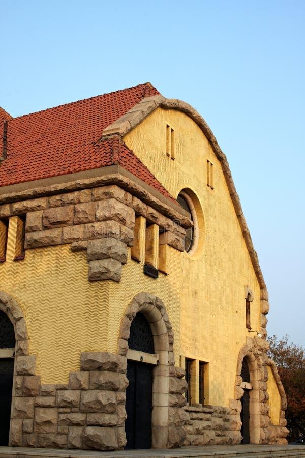 Kirche in Qingdao-Stadt, Porzellan stockfoto