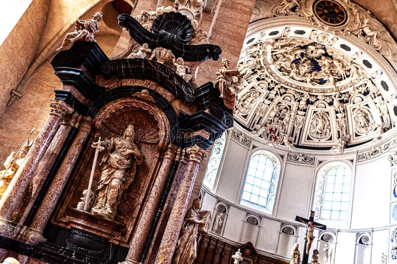 Inside of Liebfrauenkirche in Trier royalty free stock photography