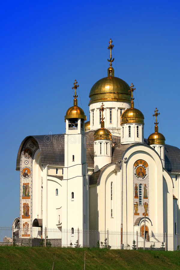 Kirche in Russland stockfotos
