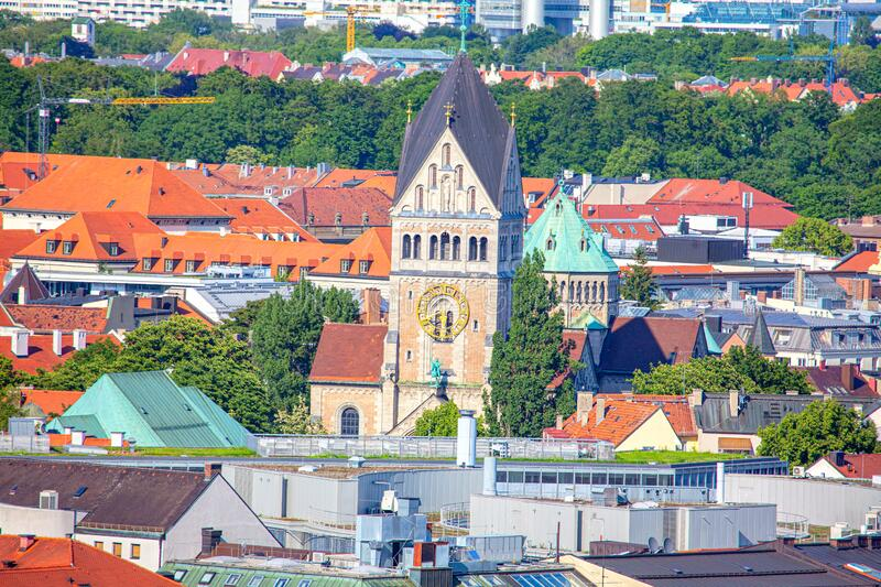 Kirche Saint Anna in Munich. View of Kirche Saint Anna in Munich royalty free stock photo