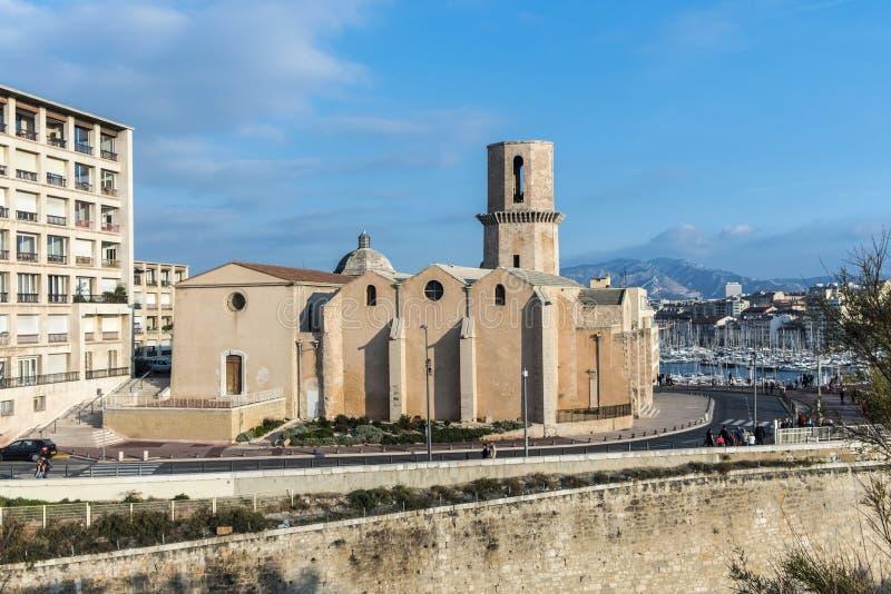Kirche Saint Laurent vom 12. Jahrhundert in Marseille, Frankreich stockfotos