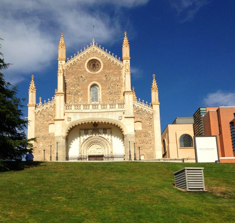 Kirche San Jeronimo el Realo in Madrid, Spanien lizenzfreie stockfotografie